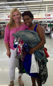 One of The amazing Thrift Queens, Pippa of Too Cheap Blondes!!!